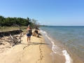 February 2015 - Strolling along the beautiful Mayacan beach!